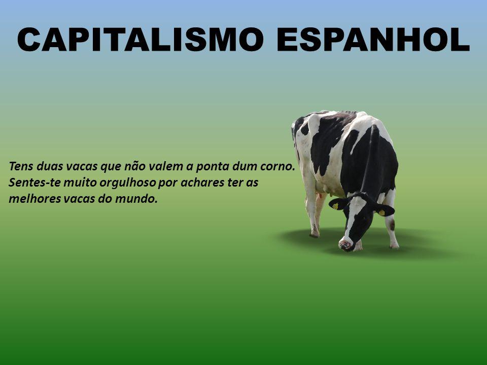 CAPITALISMO SUÍÇO Tens 500 vacas, mas nenhuma é tua. Cobras para guardar as vacas dos outros.