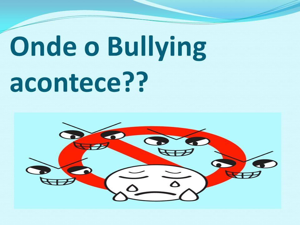 Onde o Bullying acontece??