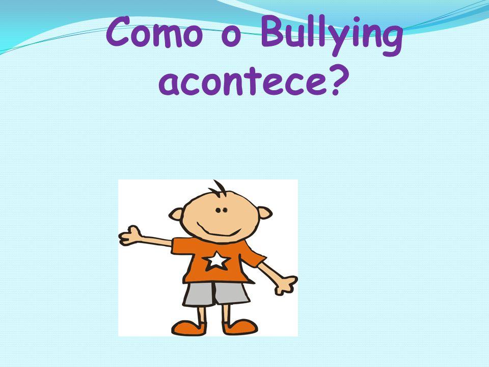 Como o Bullying acontece?