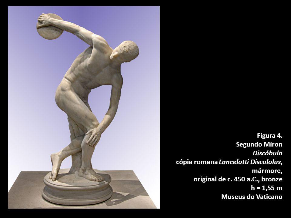 Figura 4.Segundo Míron Discóbulo cópia romana Lancelotti Discololus, mármore, original de c.