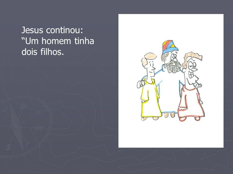 Jesus continou: Um homem tinha dois filhos.