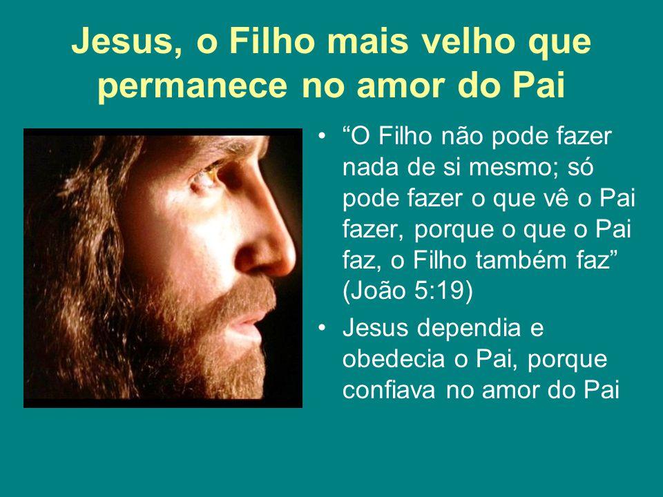 """Jesus, o Filho mais velho que permanece no amor do Pai """"O Filho não pode fazer nada de si mesmo; só pode fazer o que vê o Pai fazer, porque o que o Pa"""