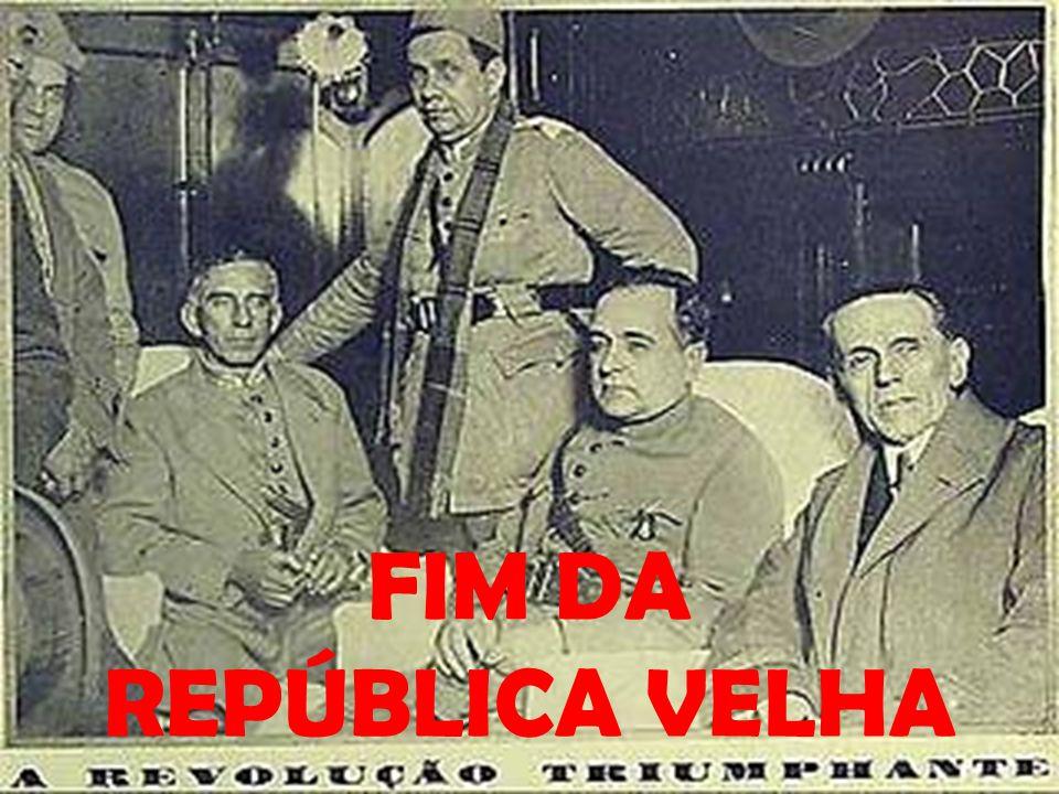 Movimento armado ∟ Aliança Liberal ∟ Tenentes ∟ Exército ∟ Sul-Sudeste ∟ Nordeste ∟ 24/10/1930 ∟ Washington Luís é deposto ∟ Júlio Prestes ∟ posse impedida