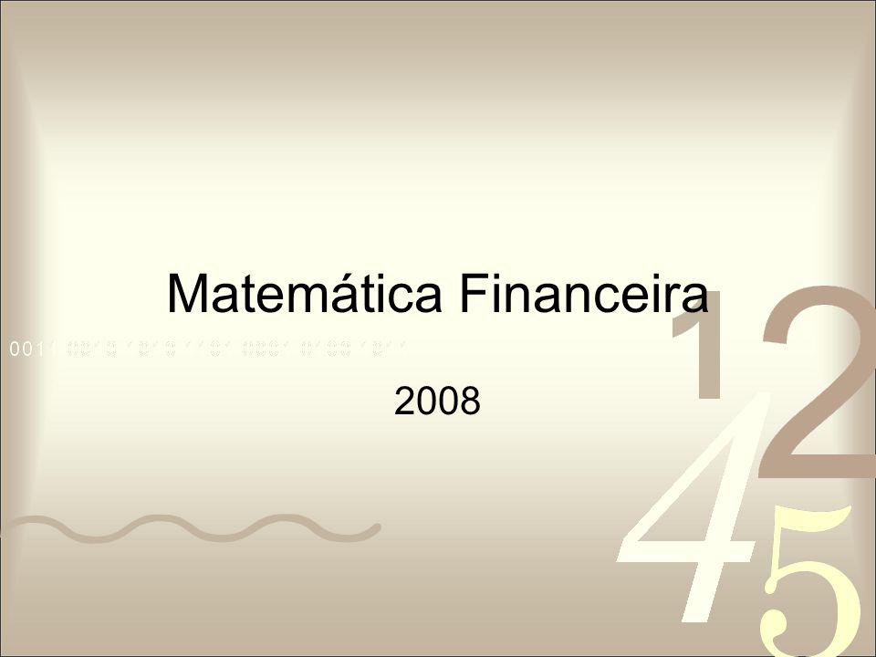 Matemática Financeira 2008