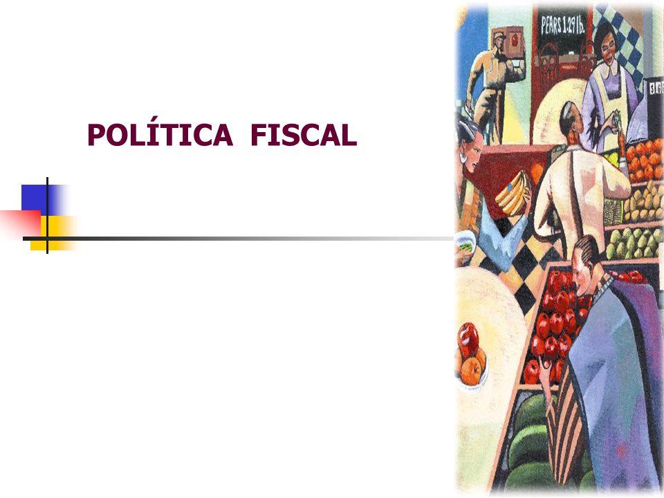  POLÍTICA FISCAL  POLÍTICA FISCAL – intervenção do governo na economia;  OBJETIVO DA POLÍTICA FISCAL  manter o elevados níveis de emprego;  elevadas taxas de crescimento econômico;  estabilidade de preços.