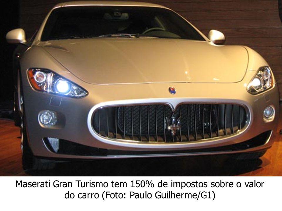 Maserati Gran Turismo tem 150% de impostos sobre o valor do carro (Foto: Paulo Guilherme/G1)