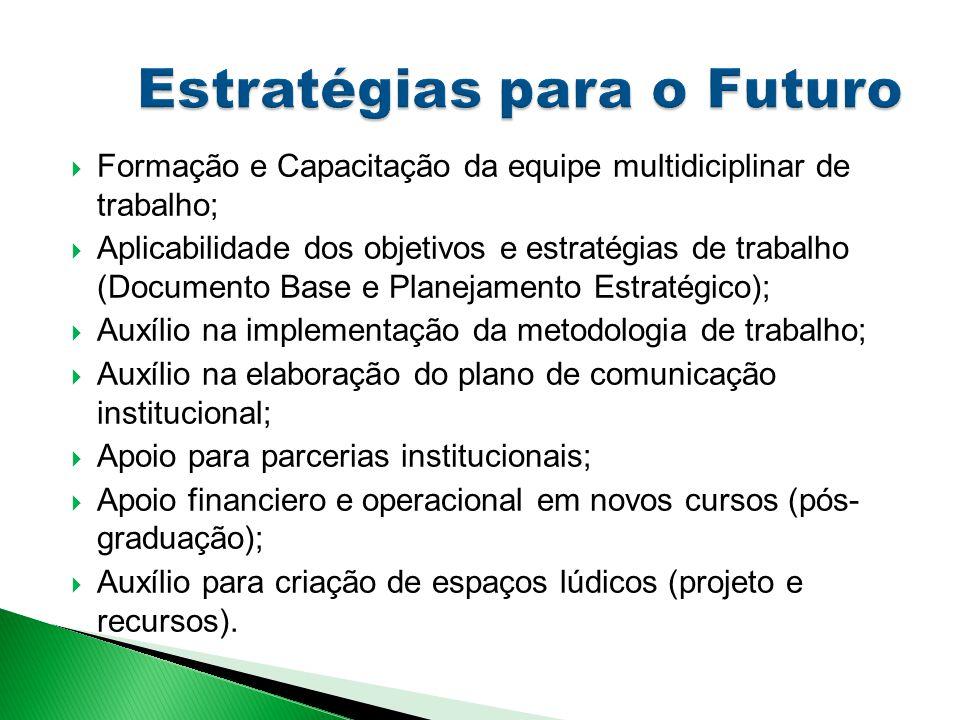  Formação e Capacitação da equipe multidiciplinar de trabalho;  Aplicabilidade dos objetivos e estratégias de trabalho (Documento Base e Planejament