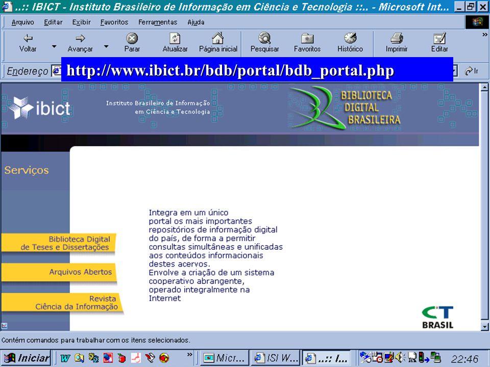 (c) GCS, 200311 n Integra em um único portal os mais importantes repositórios de informação digital do país, de forma a permitir consultas simultâneas