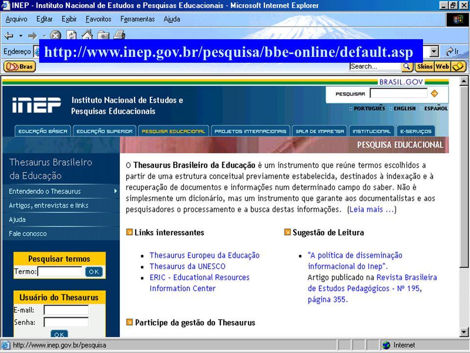 (c) GCS, 200320 http://www.inep.gov.br/pesquisa/bbe-online/default.asp