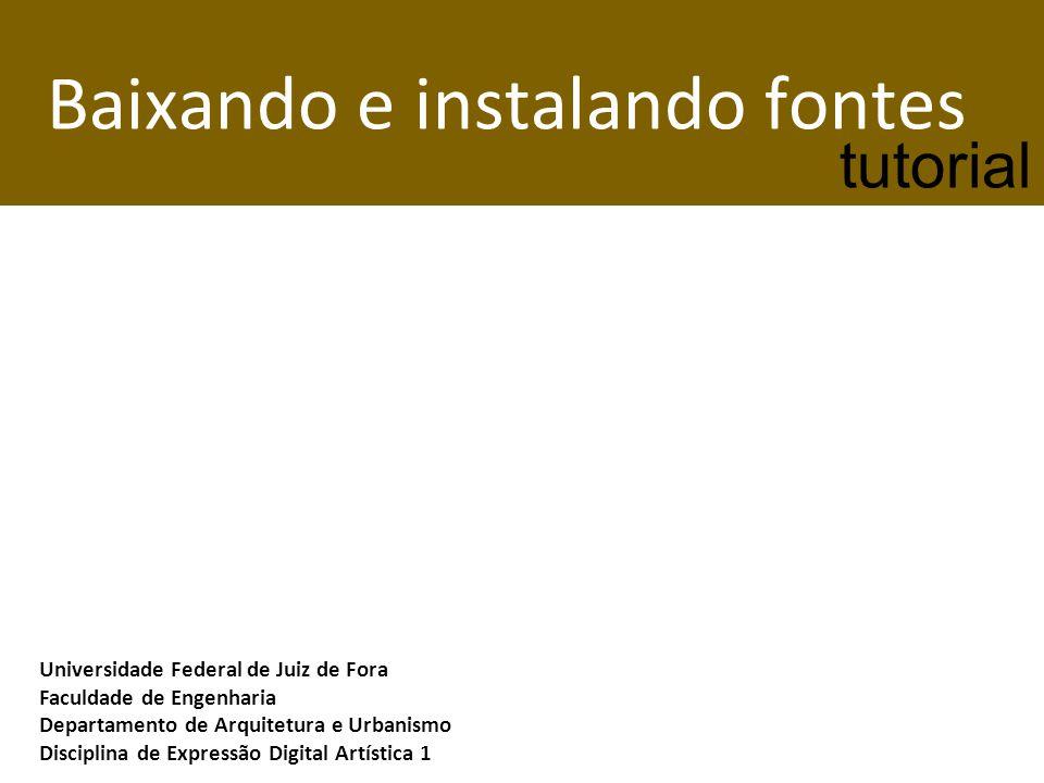 Existem diversos sites que disponibilizam fontes gratuitas, tais como: Dafont - http://www.dafont.com/pt/http://www.dafont.com/pt/ 1001 Fonts - http://www.1001fonts.com/comic-fonts.htmlhttp://www.1001fonts.com/comic-fonts.html Netfontes - http://www.netfontes.com.br/http://www.netfontes.com.br/ Os arquivos baixados destes sites estão compactados, e em alguns sistemas é necessário ter instalado em seu computador algum programa que possa abri-los.