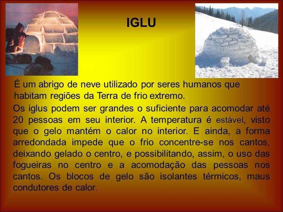 Os iglus podem ser grandes o suficiente para acomodar até 20 pessoas em seu interior. A temperatura é estável, visto que o gelo mantém o calor no inte