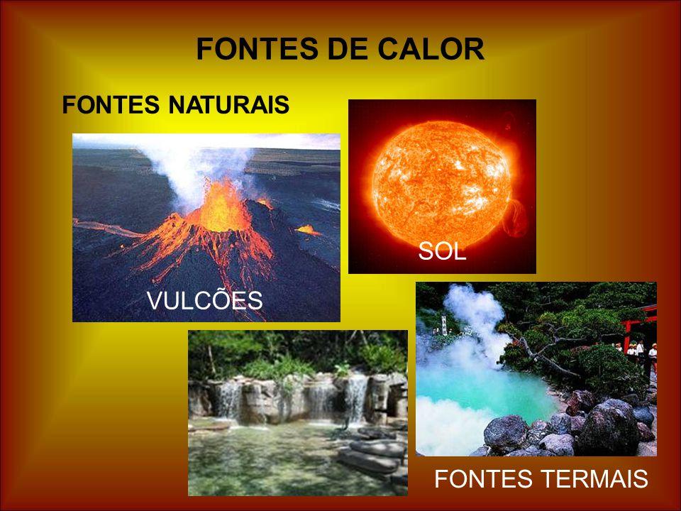 FONTES DE CALOR FONTES NATURAIS VULCÕES SOL FONTES TERMAIS
