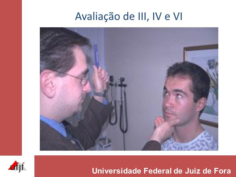 Avaliação de III, IV e VI Universidade Federal de Juiz de Fora