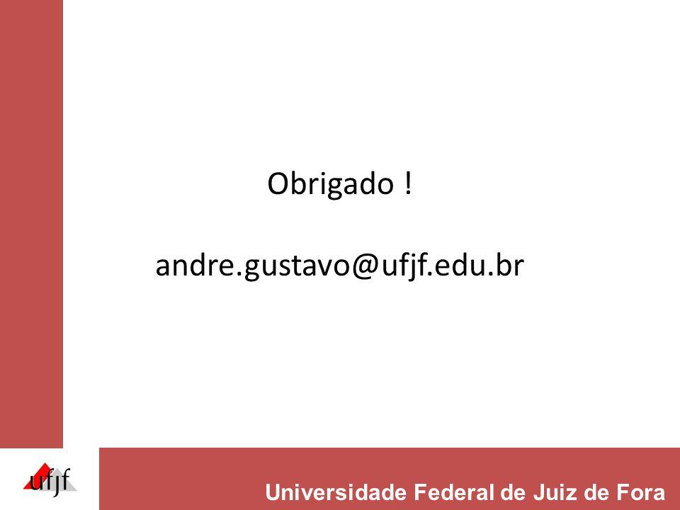 Obrigado ! andre.gustavo@ufjf.edu.br Universidade Federal de Juiz de Fora