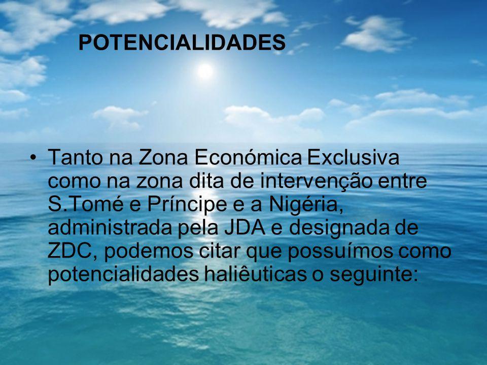 POTENCIALIDADES Tanto na Zona Económica Exclusiva como na zona dita de intervenção entre S.Tomé e Príncipe e a Nigéria, administrada pela JDA e design