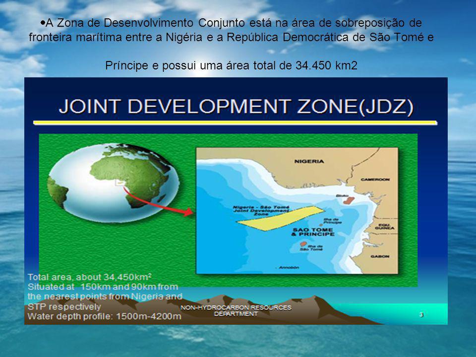  A Zona de Desenvolvimento Conjunto está na área de sobreposição de fronteira marítima entre a Nigéria e a República Democrática de São Tomé e Prínci