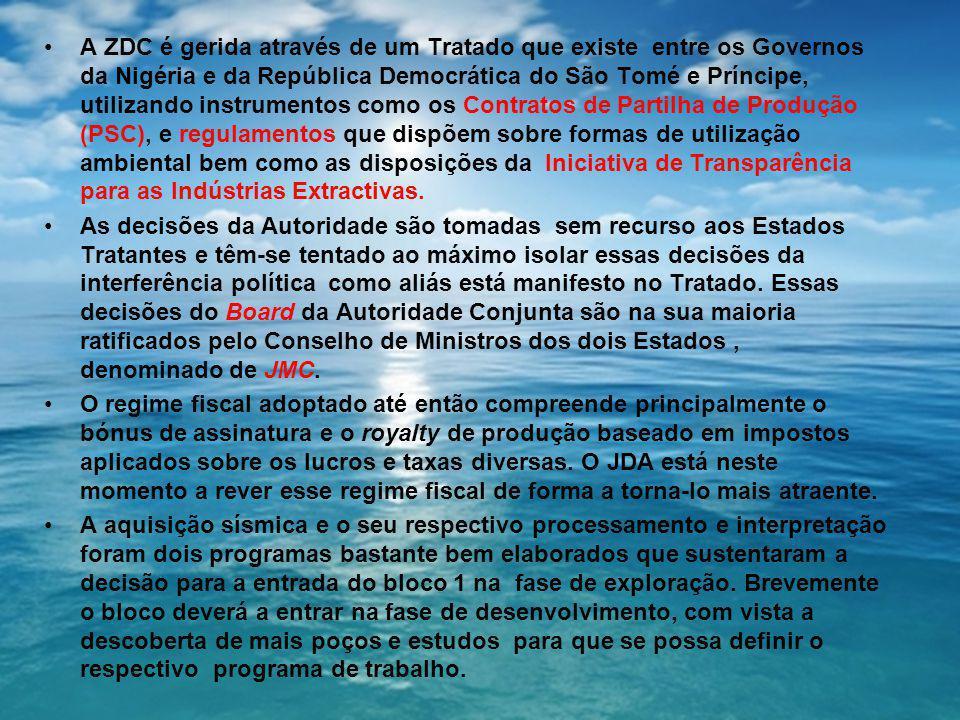 A ZDC é gerida através de um Tratado que existe entre os Governos da Nigéria e da República Democrática do São Tomé e Príncipe, utilizando instrumento