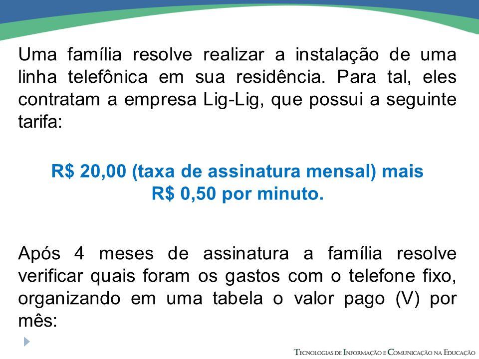 Uma família resolve realizar a instalação de uma linha telefônica em sua residência.