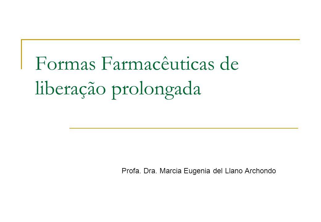 Formas Farmacêuticas de liberação prolongada Profa. Dra. Marcia Eugenia del Llano Archondo
