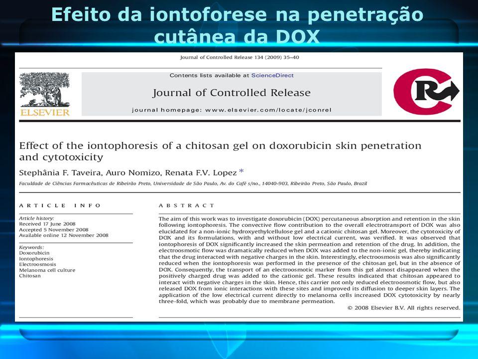Efeito da iontoforese na penetração cutânea da DOX
