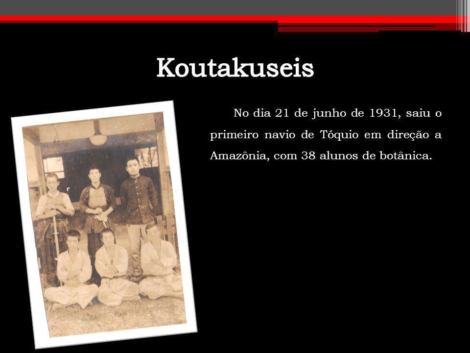No dia 21 de junho de 1931, saiu o primeiro navio de Tóquio em direção a Amazônia, com 38 alunos de botânica.