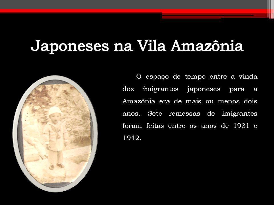 O espaço de tempo entre a vinda dos imigrantes japoneses para a Amazônia era de mais ou menos dois anos. Sete remessas de imigrantes foram feitas entr