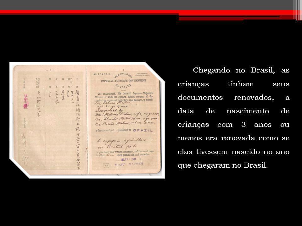 Chegando no Brasil, as crianças tinham seus documentos renovados, a data de nascimento de crianças com 3 anos ou menos era renovada como se elas tives