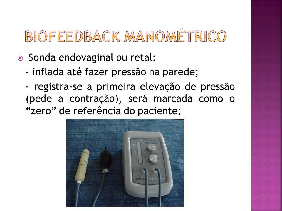  Recurso terapêutico utilizado para detectar, amplificar através de sinais visuais e sonoros a contração dos mm. requisitados.  Requer compreensão,