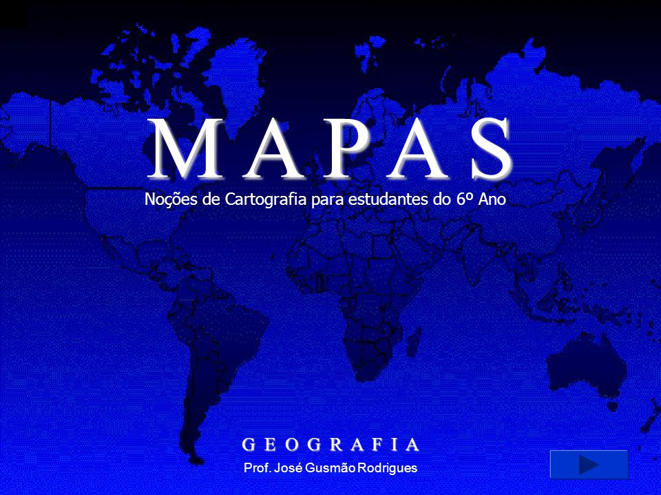 NOÇÕES DE CARTOGRAFIA AS PROJEÇÕES CARTOGRÁFICAS PROJEÇÃO DE MERCATOR PROJEÇÃO CÔNICA PROJEÇÃO CENTRAL OUTRAS PROJEÇÕES AS ESCALAS TIPOS DE ESCALAS ESCALA NUMÉRICA ESCALA GRÁFICA TAMANHOS DAS ESCALAS CONCLUSÃO APRESENTAÇÃO UM POUCO DE HISTÓRIA CONVEÇÕES CARTOGRÁFICAS TIPOS DE MAPAS PLANTAS Clique com o mouse sobre o título desejado ou vá clicando enter para ver a apresentação completa próximo sair BIBLIOGRAFIA