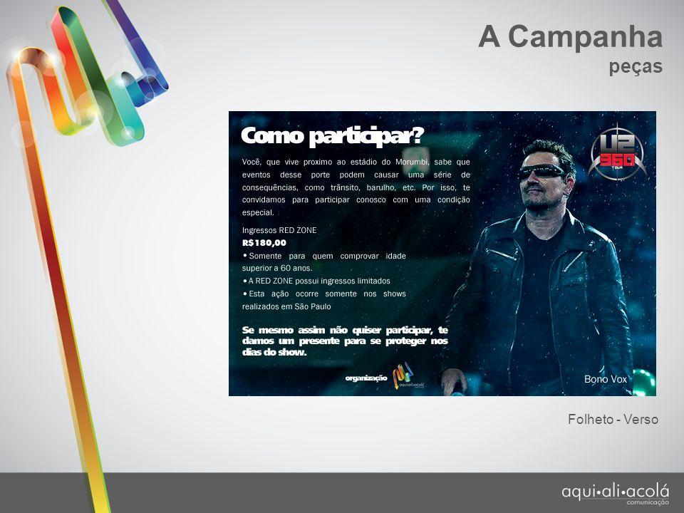 A Campanha peças Folheto - Verso