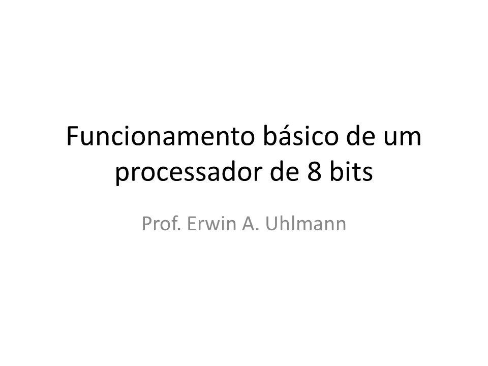 Funcionamento básico de um processador de 8 bits Prof. Erwin A. Uhlmann