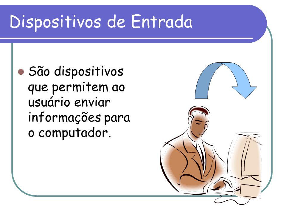 Dispositivos de Entrada São dispositivos que permitem ao usuário enviar informações para o computador.