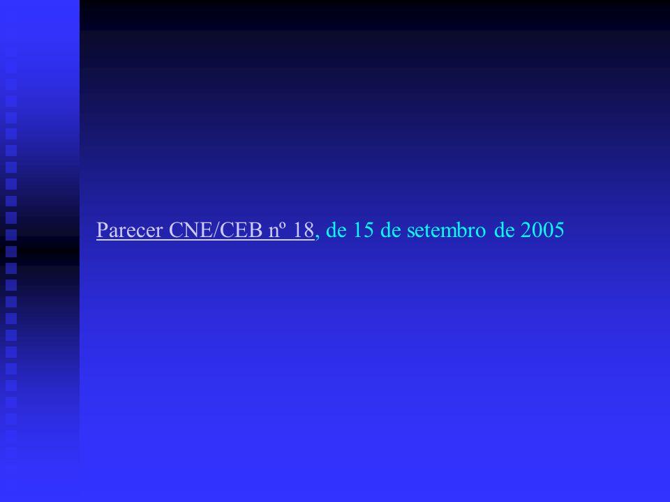 Parecer CNE/CEB nº 18Parecer CNE/CEB nº 18, de 15 de setembro de 2005