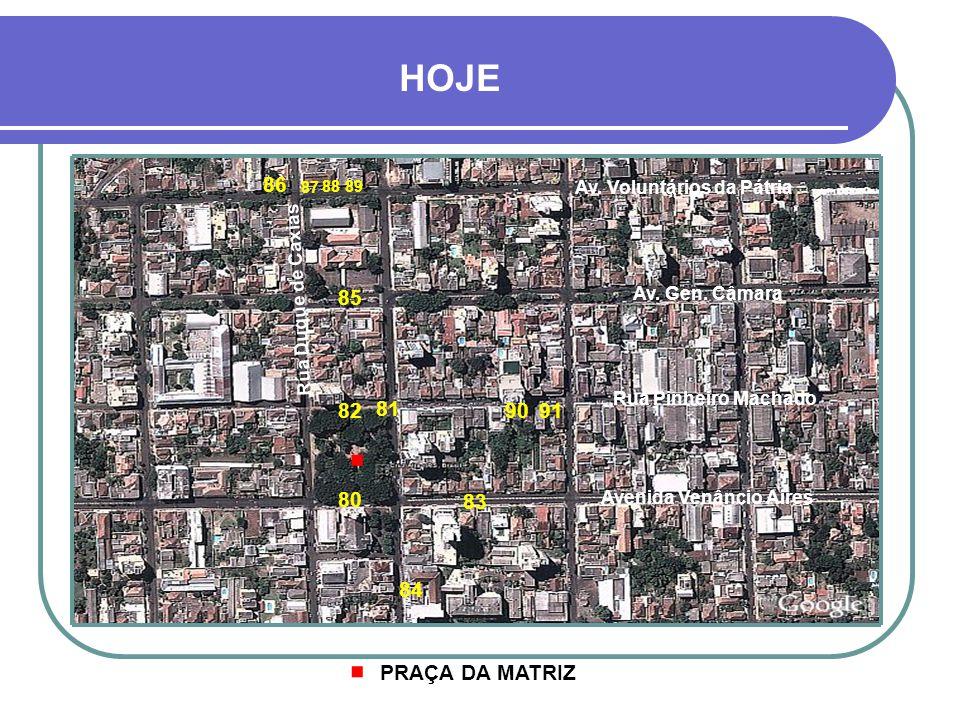 LEGENDA 70- AV. GEN. OSÓRIO - PROJETOS 44 71- CASA PAGEL - PROJETO 48 72- AV.