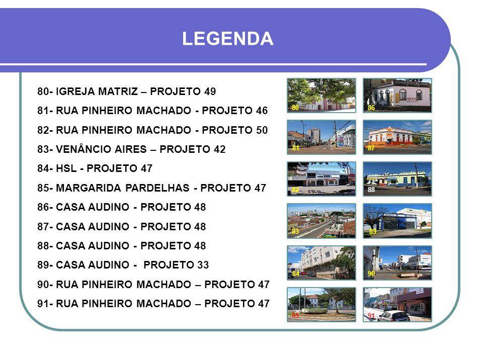 HOJE 90 83 80 81 84 85 86 87 9182 Avenida Venâncio Aires Rua Pinheiro Machado Av.