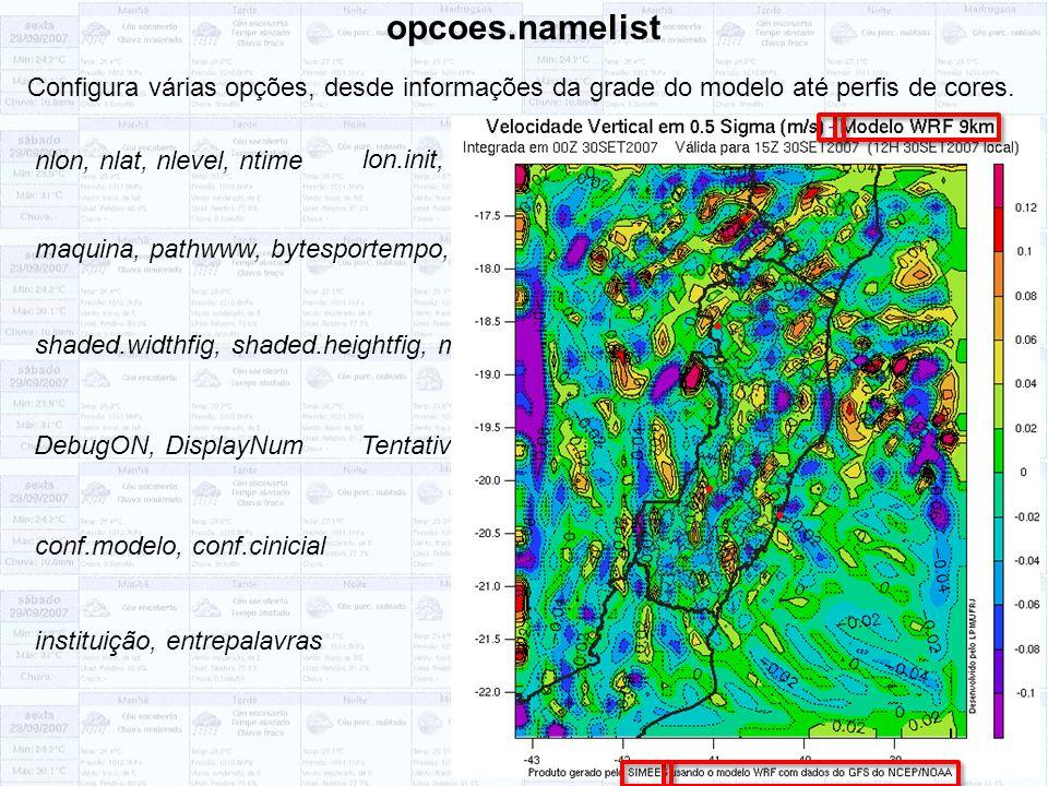 shaded.widthfig, shaded.heightfig, mp.widthfig, mp.heightfig opcoes.namelist Configura várias opções, desde informações da grade do modelo até perfis