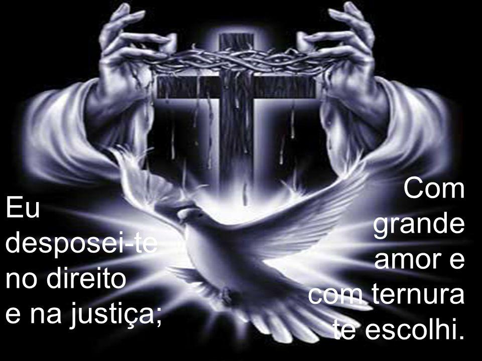 É o amor que tudo alcança; Só a justiça gera a paz! Só a justiça gera a paz!