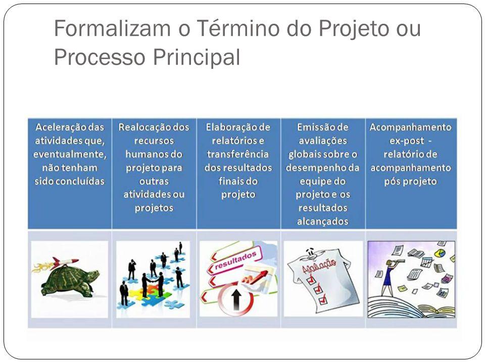 Formalizam o Término do Projeto ou Processo Principal