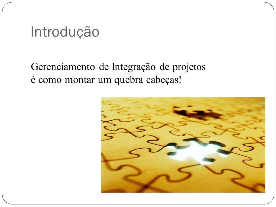 Introdução Gerenciamento de Integração de projetos é como montar um quebra cabeças!