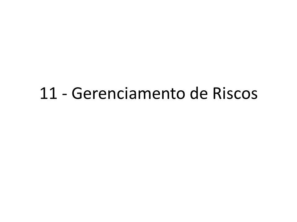 11 - Gerenciamento de Riscos