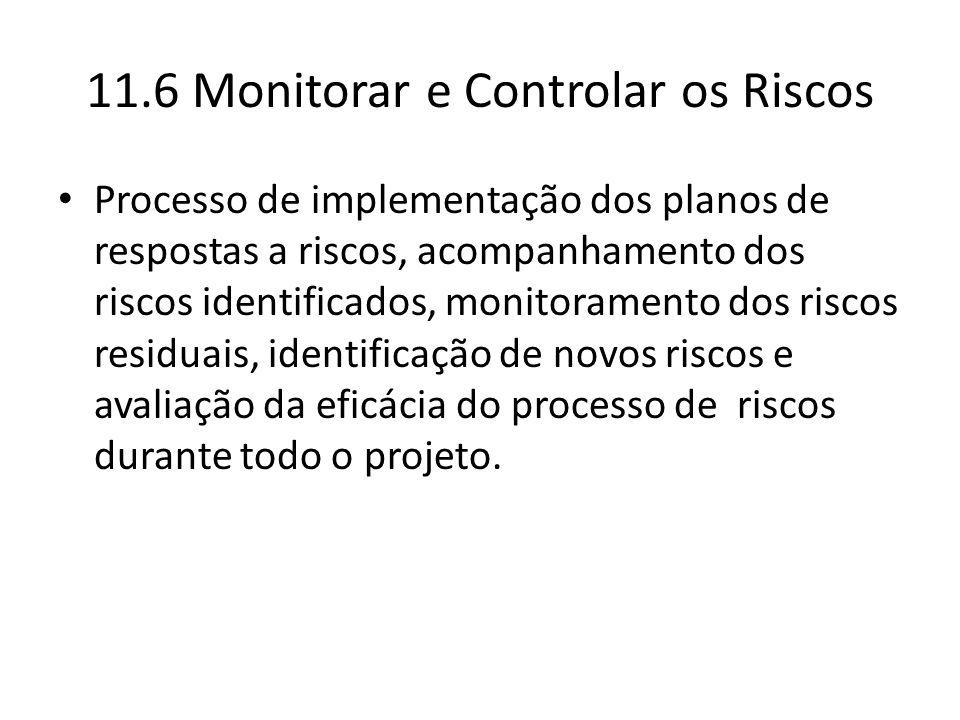 Processo de implementação dos planos de respostas a riscos, acompanhamento dos riscos identificados, monitoramento dos riscos residuais, identificação