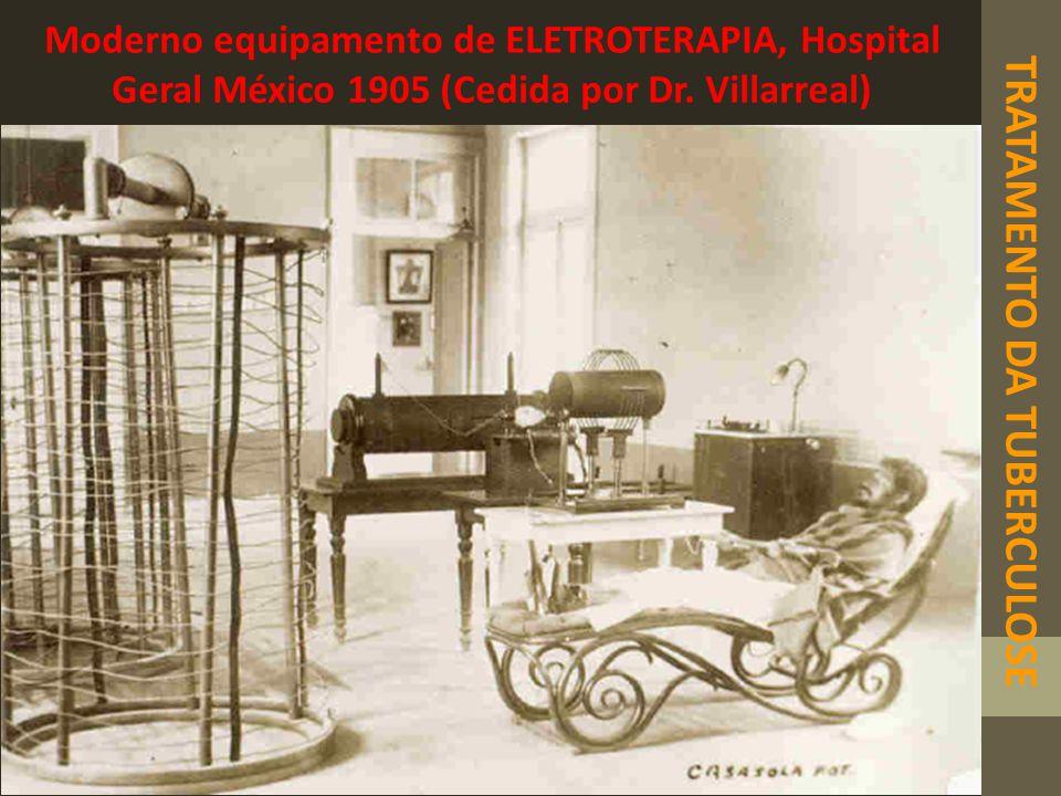 TRATAMENTO DA TUBERCULOSE Moderno equipamento de ELETROTERAPIA, Hospital Geral México 1905 (Cedida por Dr. Villarreal)