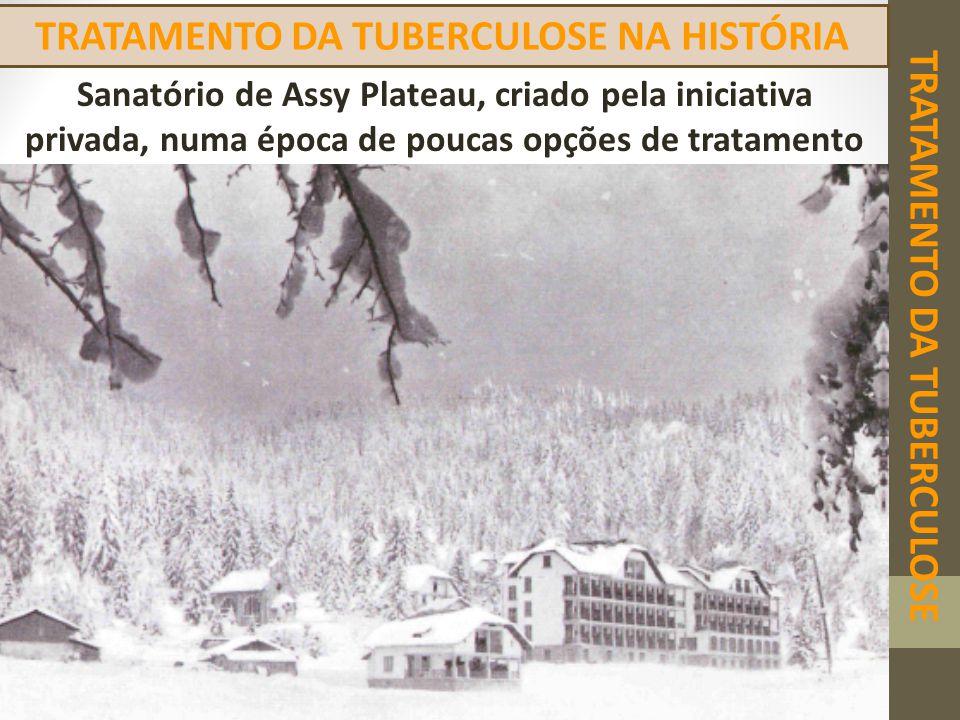 TRATAMENTO DA TUBERCULOSE TRATAMENTO DA TUBERCULOSE NA HISTÓRIA Sanatório de Assy Plateau, criado pela iniciativa privada, numa época de poucas opções