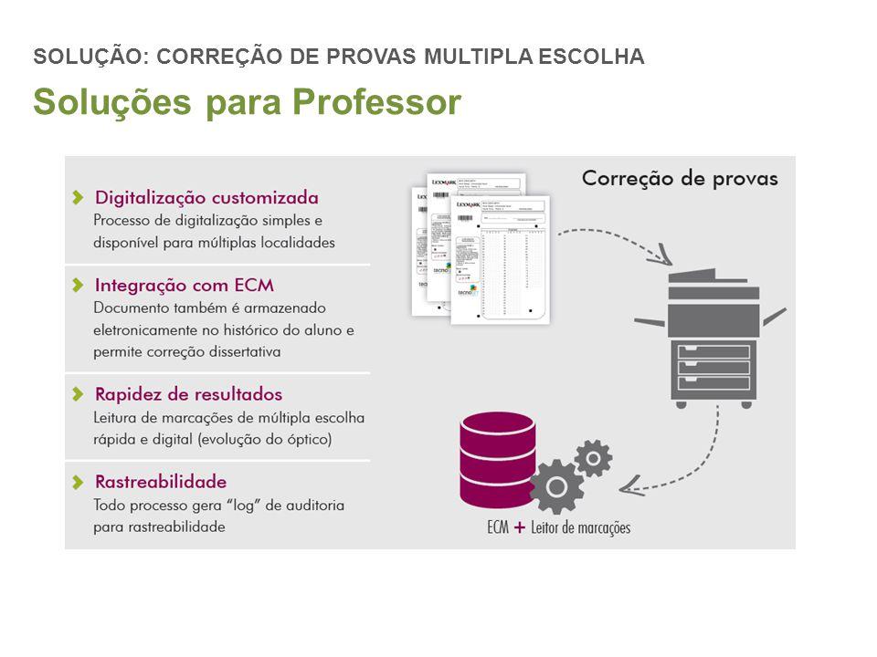 SOLUÇÃO: CORREÇÃO DE PROVAS MULTIPLA ESCOLHA Soluções para Professor