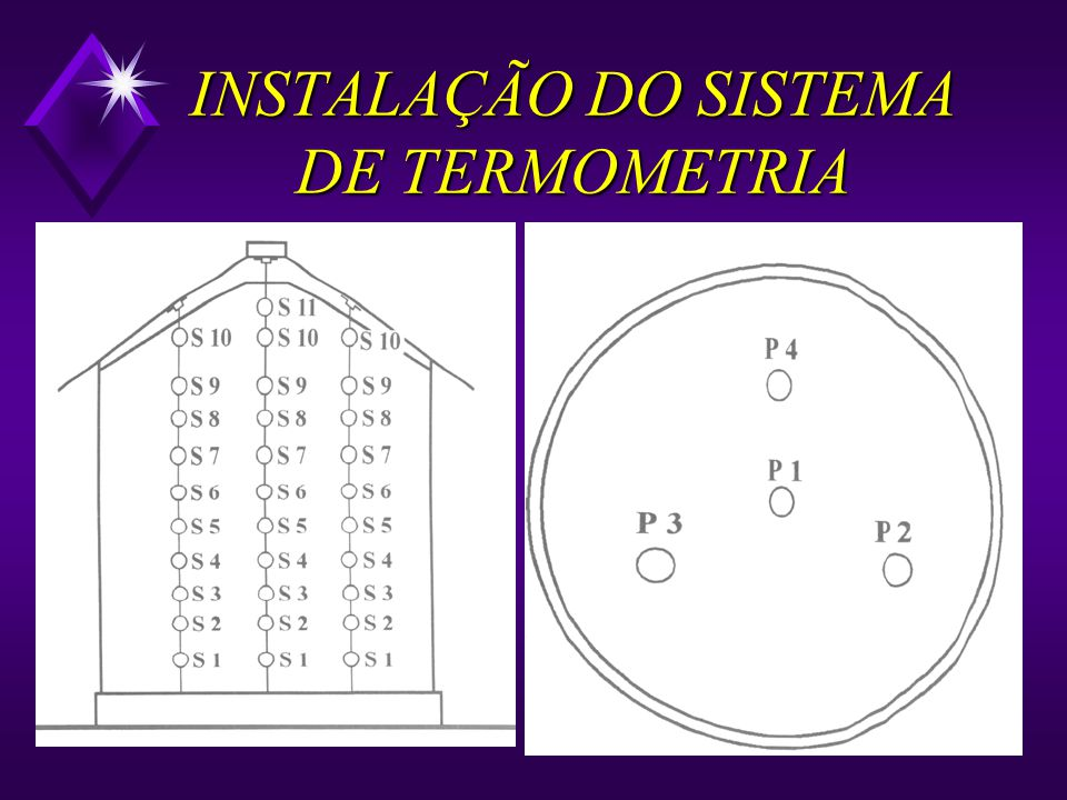 INSTALAÇÃO DOS CABOS TERMOMÉTRICOS u Fixação dos cabos em pontos estratégicos u Espaçamento entre os cabos máximo de 6,0m entre cabos máximo 2,0 a 2,5