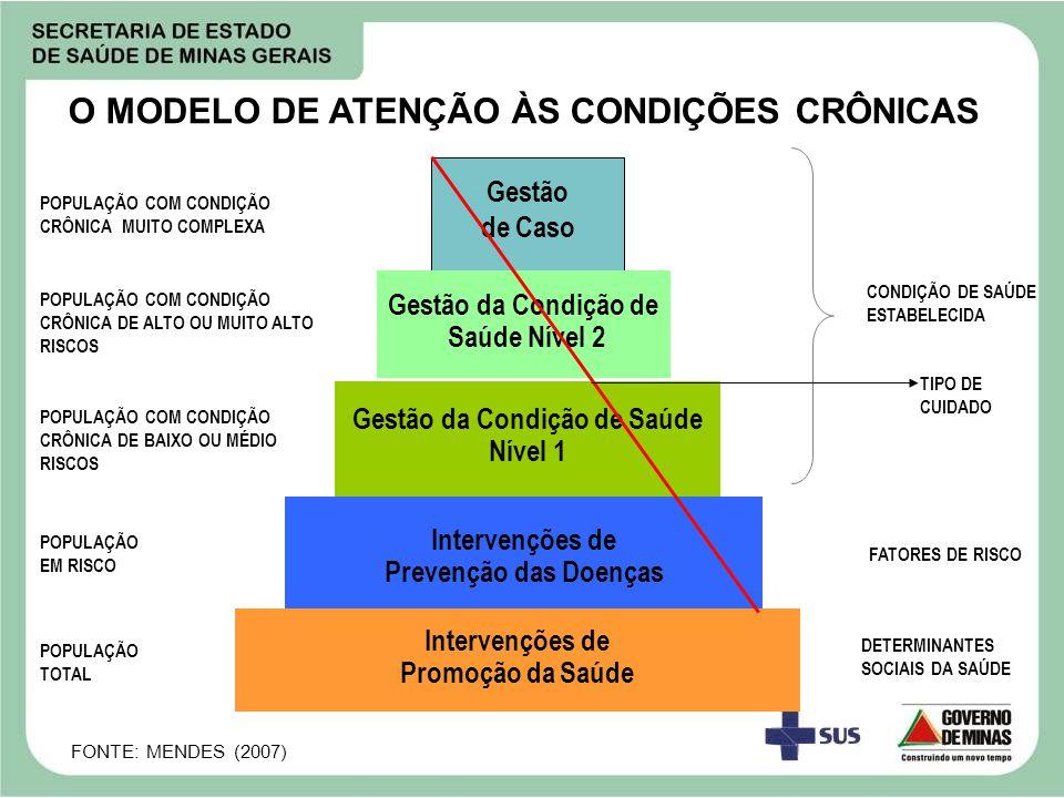 DETERMINANTES SOCIAIS DA SAÚDE POPULAÇÃO TOTAL POPULAÇÃO EM RISCO POPULAÇÃO COM CONDIÇÃO CRÔNICA DE BAIXO OU MÉDIO RISCOS POPULAÇÃO COM CONDIÇÃO CRÔNI