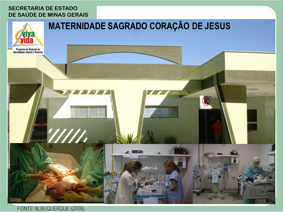 MATERNIDADE SAGRADO CORAÇÃO DE JESUS FONTE: ALBUQUERQUE (2008)