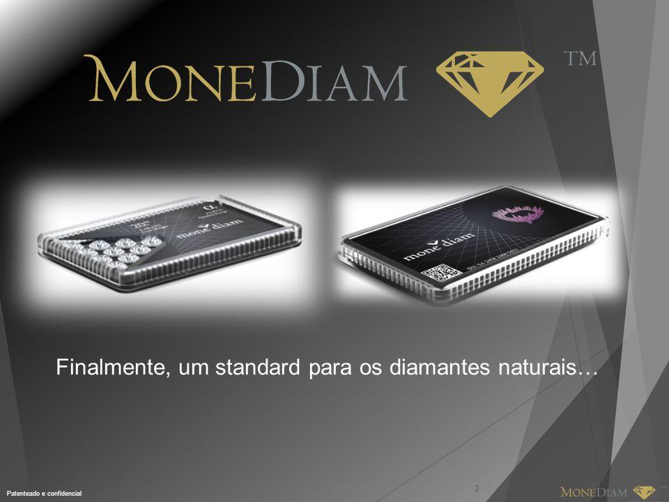 Patenteado e confidencial DEFINIÇÃO DO M ONE D IAM TM 4 M ONE D IAM TM é uma classe alternativa de activos que estabelece uma plataforma de investimento para mercados globais pela formas de divisas de papel.