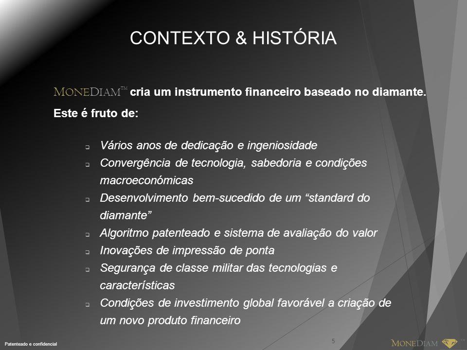 Patenteado e confidencial 5 CONTEXTO & HISTÓRIA  Vários anos de dedicação e ingeniosidade  Convergência de tecnologia, sabedoria e condições macroec