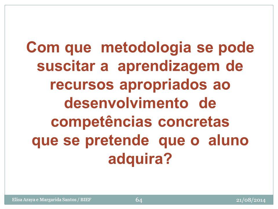 Com que metodologia se pode suscitar a aprendizagem de recursos apropriados ao desenvolvimento de competências concretas que se pretende que o aluno a